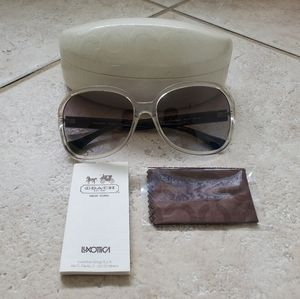 Coach clear and black sunglasses